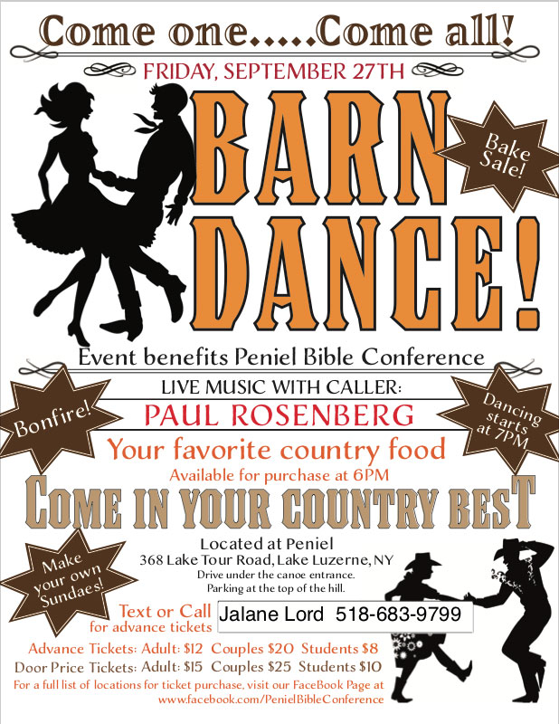 Barn Dance @ Peniel Bible Camp this Friday!