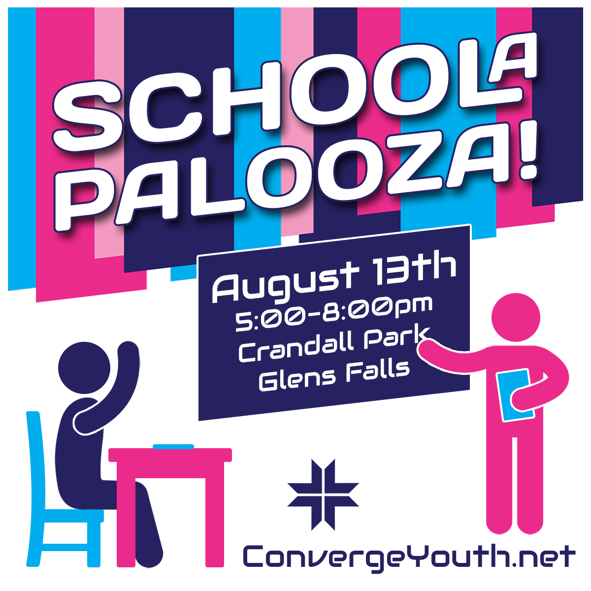 Share about Schoolapalooza coming on August 13th!